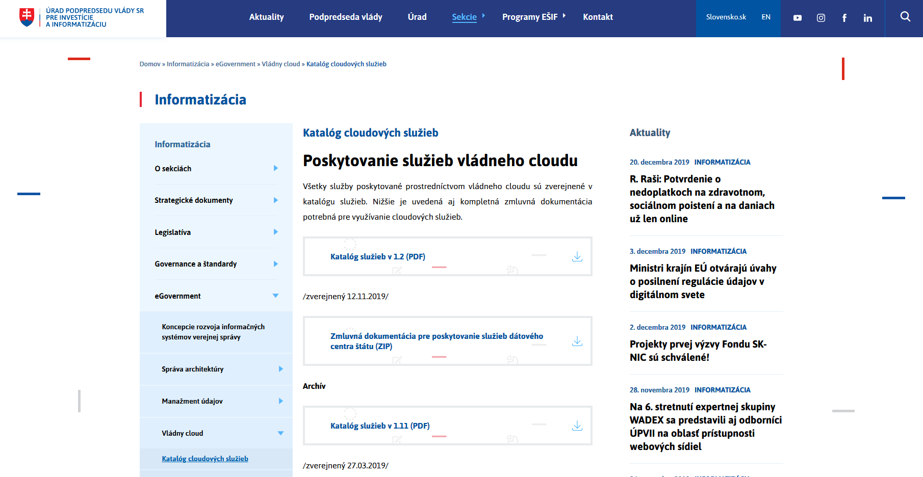 Our New Services in Government Cloud Catalogue