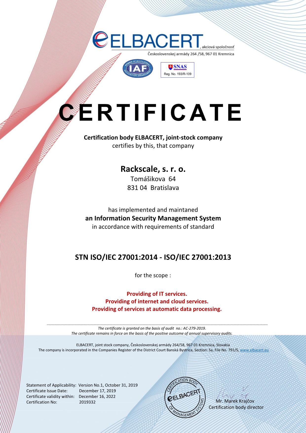ISO/IEC 27001:2014 - ISO/IEC 27001:2013